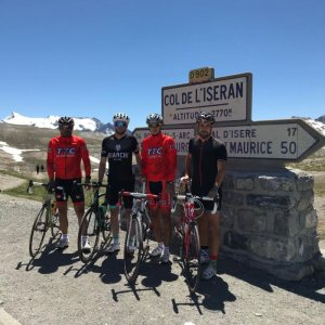<p>Successfully climbed summit of Col de l'Iseran, reaching to an altitude of 2770 m. The Tour de France route ran over it for the first time in 1938.</p>